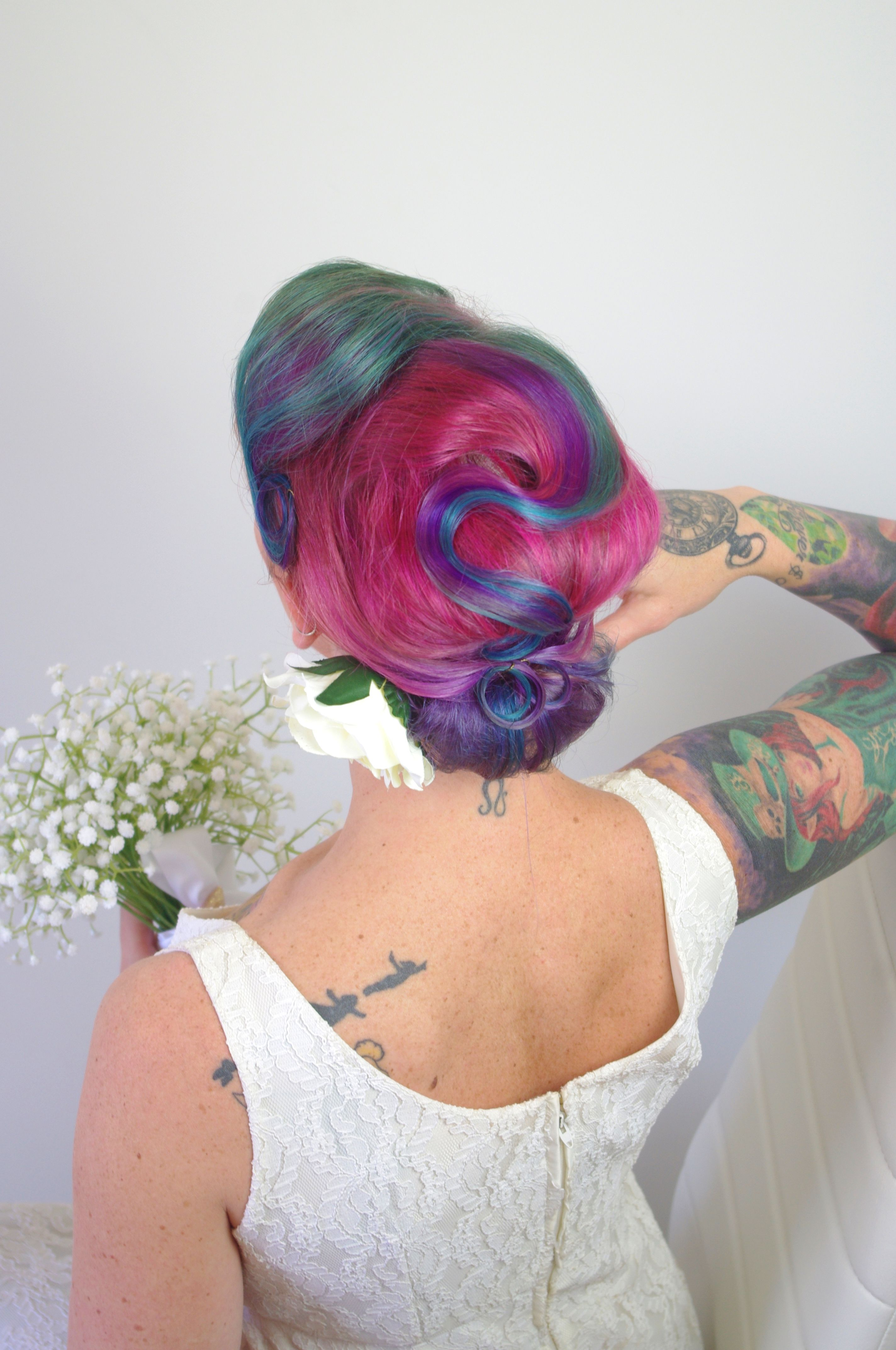 Vintage Inspired Bridal Updo By The Sunshine Coast Pinup School