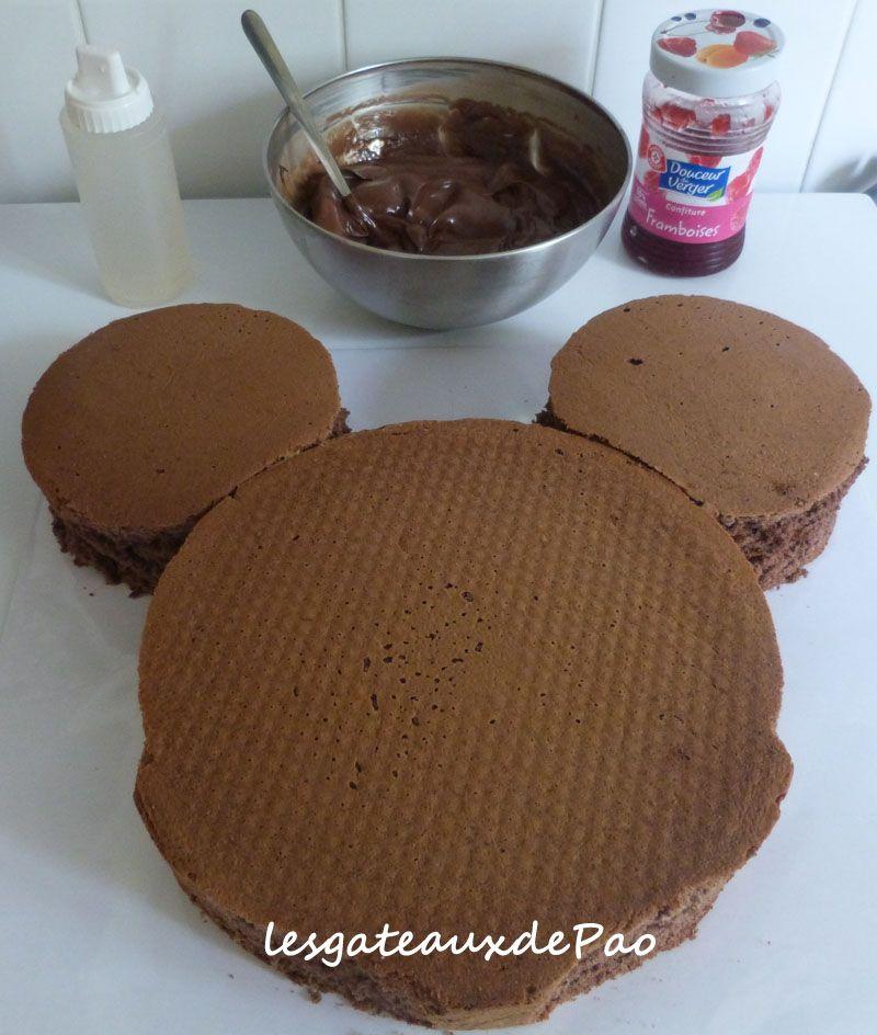 Tuto mickey etape6 g teaux p te sucre et originaux minnie mouse cake cake et cupcake cakes - Gateau mickey facile ...