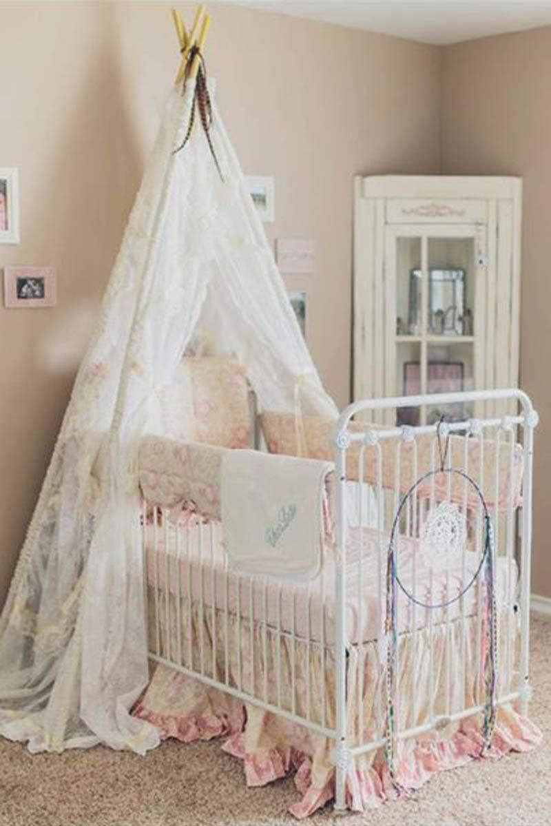 joy baby crib distressed white dream catchers nursery and babies