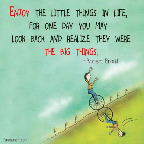 Enjoy The Little Things In Life For One Day You May Look Back And