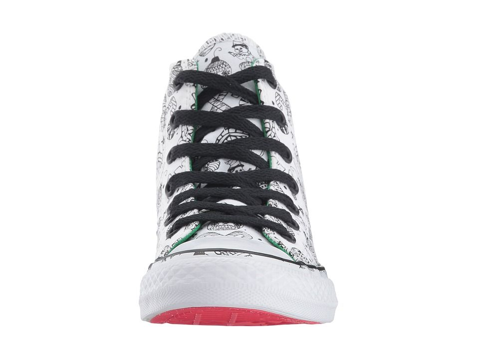 be35f64e1dde Converse Kids Chuck Taylor All Star Holiday Coloring Book - Hi (Little Kid Big  Kid) Girls Shoes White Green Siren Red