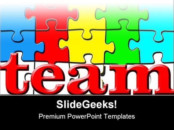 Team Puzzle Shapes PowerPoint Backgrounds And Templates 1210 12