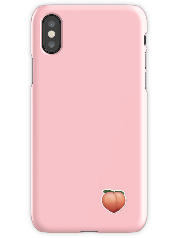 Peach Emoji Iphone X Snap By Jaammss Iphone Phone Cases Emoji
