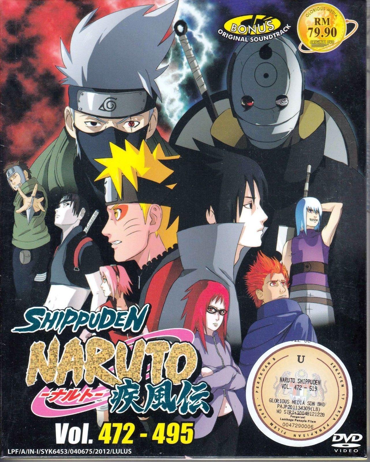 DVD ANIME NARUTO SHIPPUDEN Vol.472-495 Box Set 24 Episode