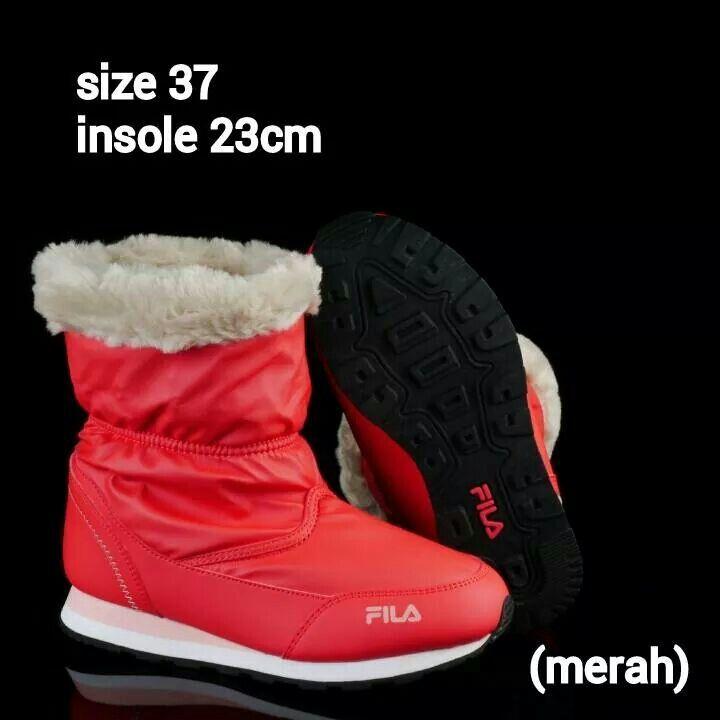 Ready Stock Kids Women Winter Boots Kode Ophelia Red Size 37