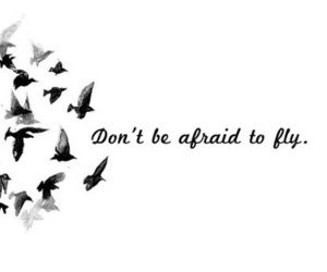 Donu0027t Be Afraid To Fly :) I Made Cu Outs From Magazines To Spell This Out  On My Bedroom Door :D | U003cu003cQ U O T E Su003eu003e | Pinterest | Tattoo, ...