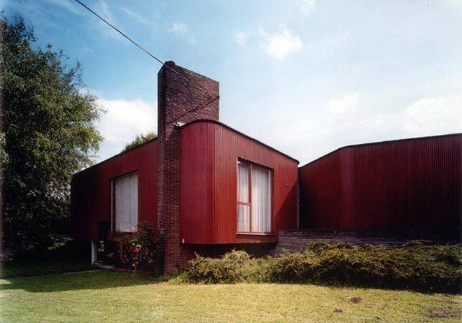 Maison Michaux, Saint-Symphorien, 1958-1959 - Jacques Dupuis © Marie - peinture de facade maison