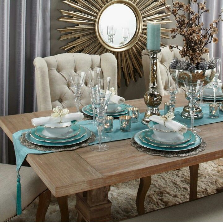 Gold Teal In 2019 Home Decor Dining Room Design Dining