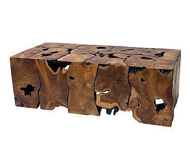 Mesa de centro en madera de teca Pacific - natural