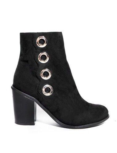 Eyelet Midi Ankle Boots #pixiemarket #fashion #womenclothing @pixiemarket
