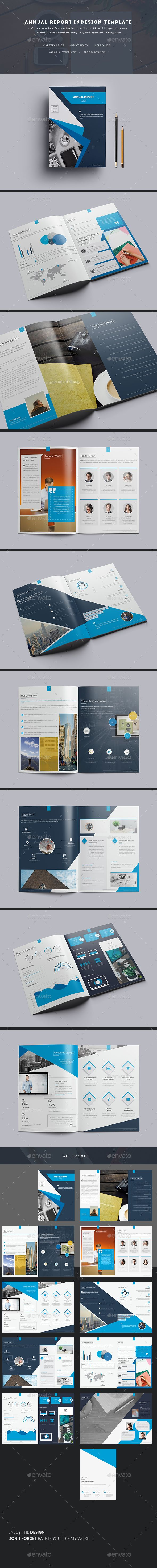Annual Report Indesign Template | Diseño editorial, Editorial y ...