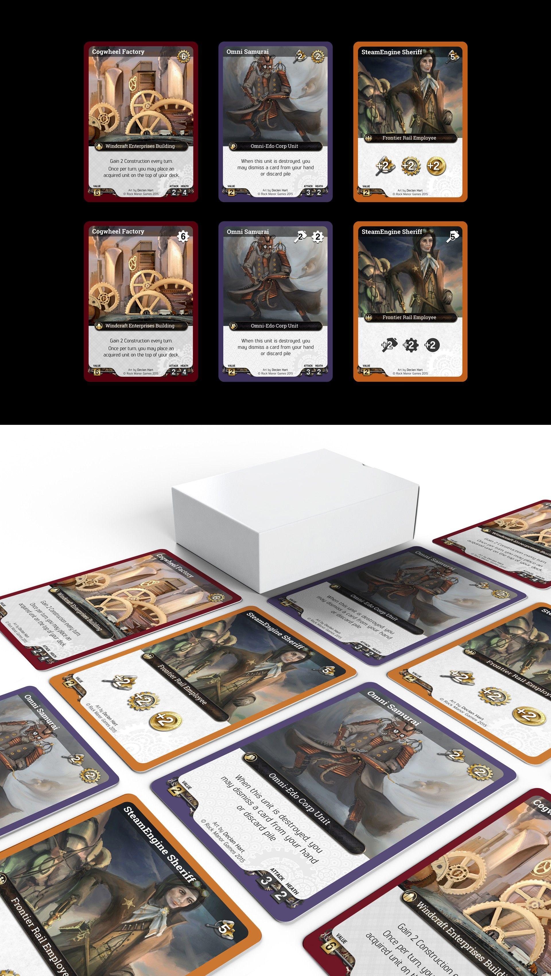 Steampunk Card Game Design 99designs Game Card Design Game Design Card Games