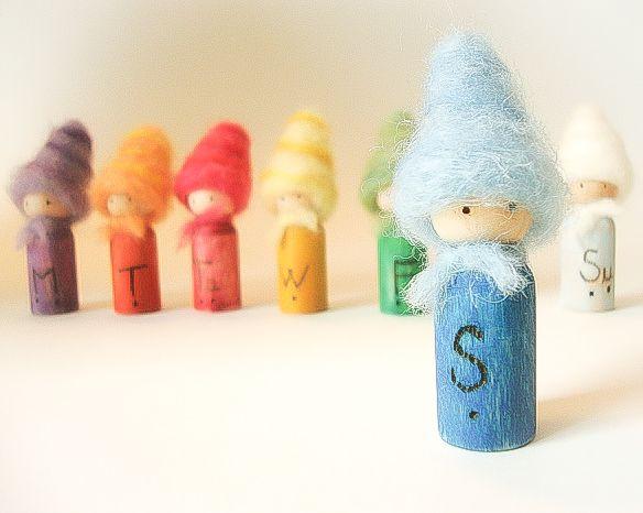 waldorf colours of the week - Google zoeken | Educational toys