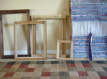 Rag Rug Loom From Picture Frame And Tutorial
