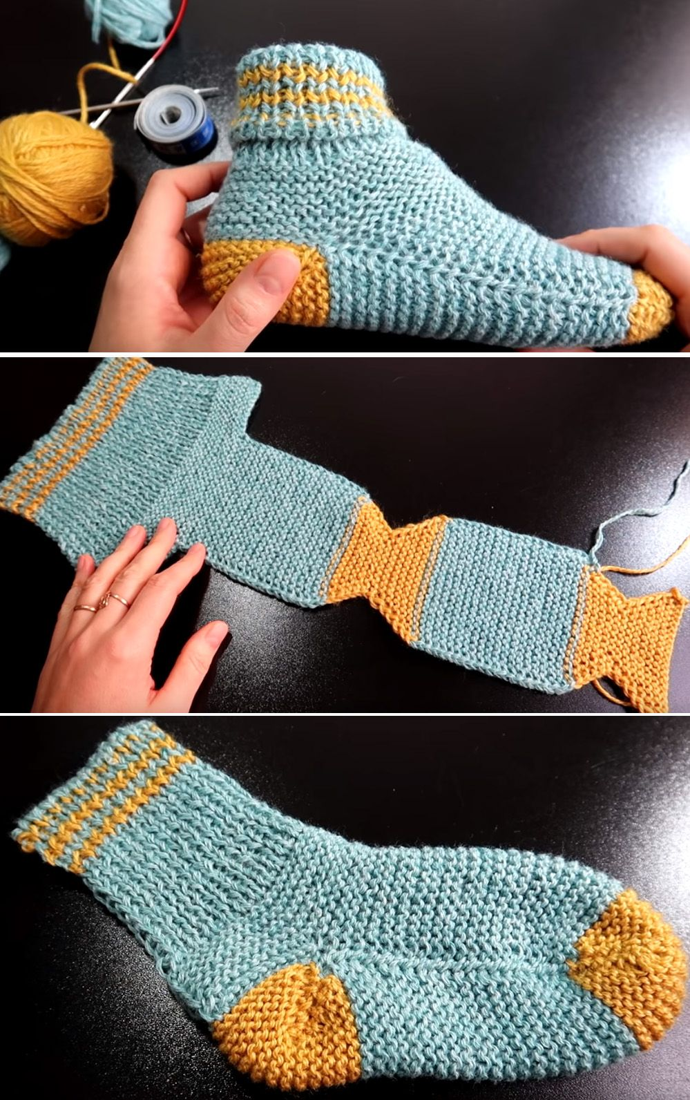Two Needle Socks - Free Knitting Pattern #knittingideas