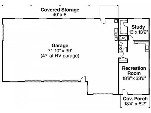 3 Car Garage With And Rv One Bedroom Apartment Single Level