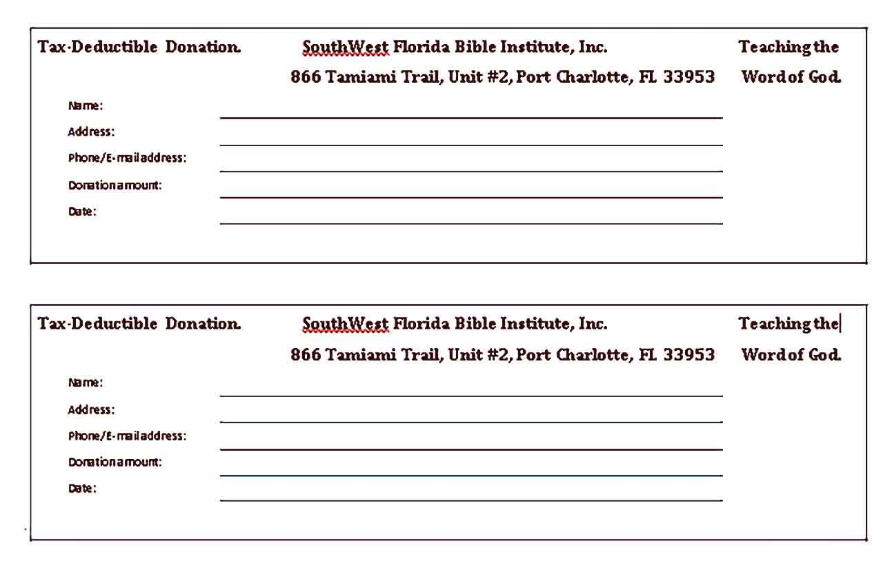 Fundraiser Receipt Template Sample In 2021 Receipt Template Fundraising Fundraising Organization