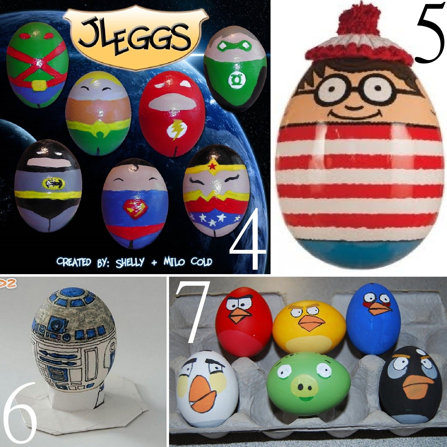 The scrap shoppe 17 unusual easter egg character ideas for Easter egg ideas