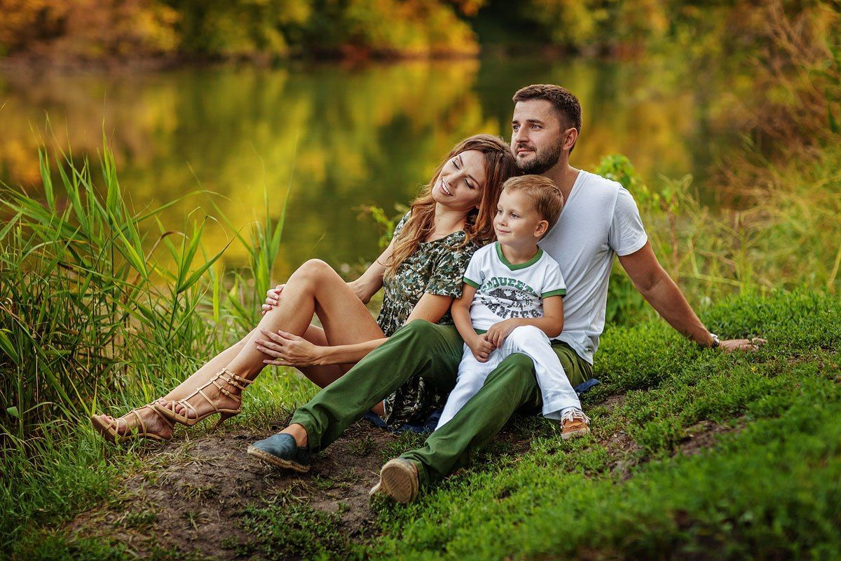 фотосессия на природе летом идеи для семьи такой