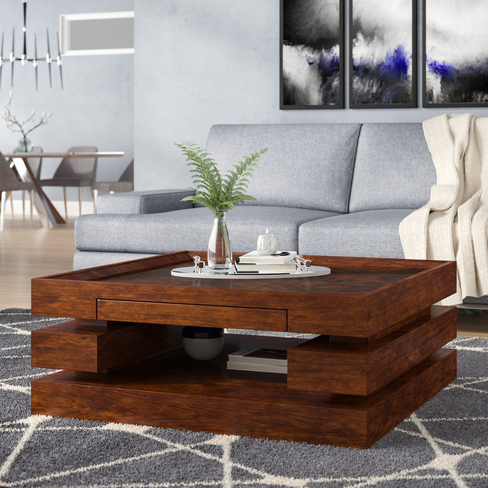 Ivy Bronx Giardina Coffee Table  Wayfair  Living room table