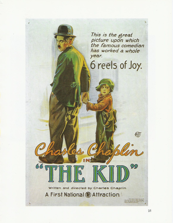 Movie Poster Art: The Kid, 1920. Starring Chaplin ...