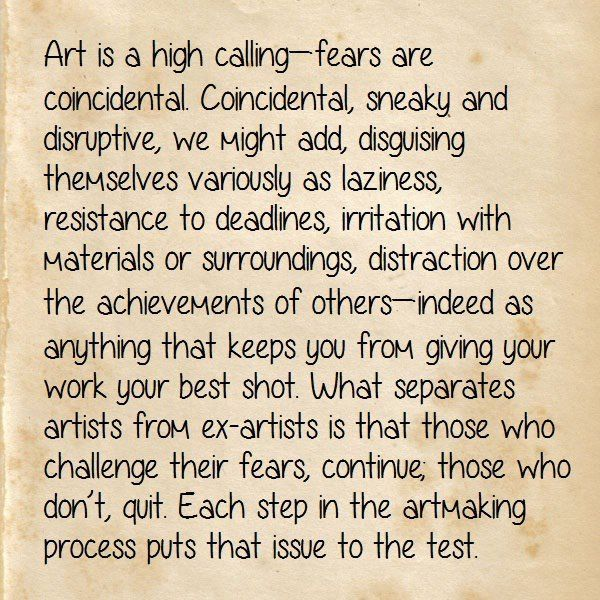 Quote Of The Week Art Fear Quotes Art Quotes Art Fear Quotes