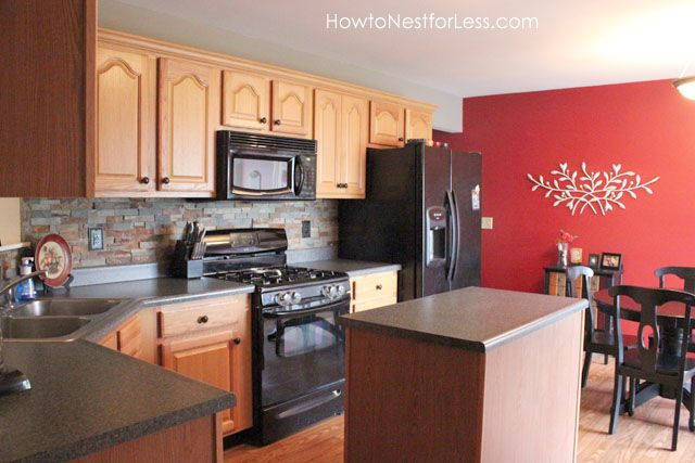 Kitchen Before     Boring~ August, 2012. See After Photos At: · Kitchen  Accent WallsRed ...