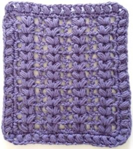 #276 Purple Puffs Crochet Dishcloth – Maggie Weldon Maggies Crochet