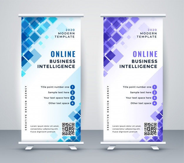Download Abstract Business Rollup Standee Banner for free
