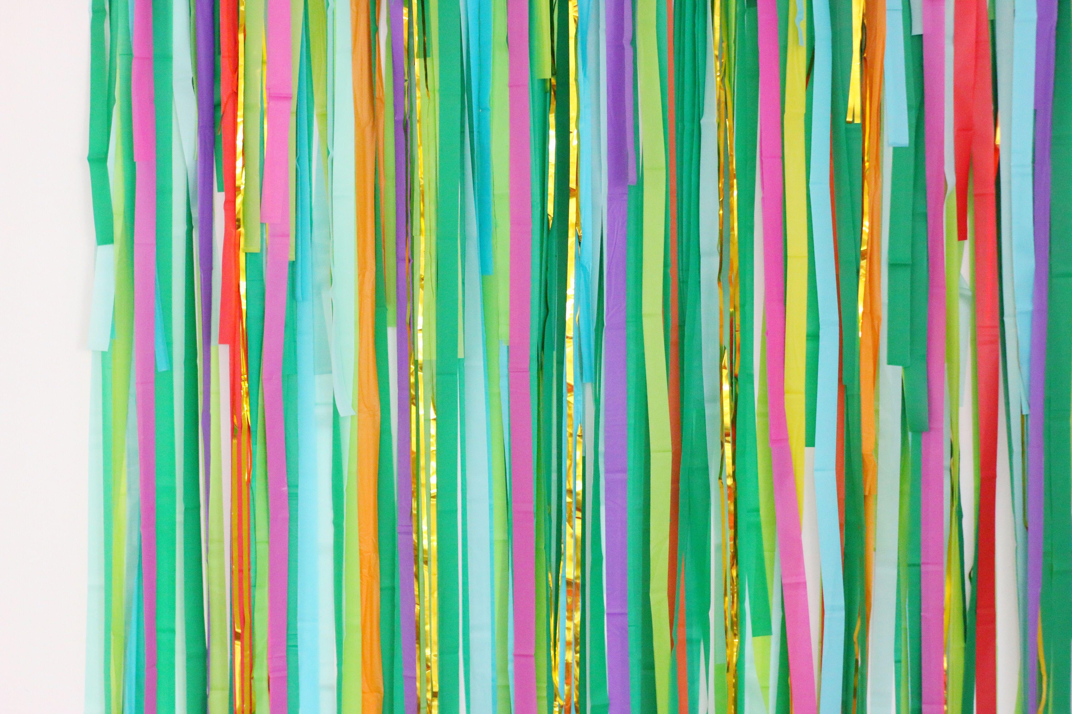 Colorful Fringe Backdrop, Wedding Backdrop, Photo Booth Streamer Backdrop