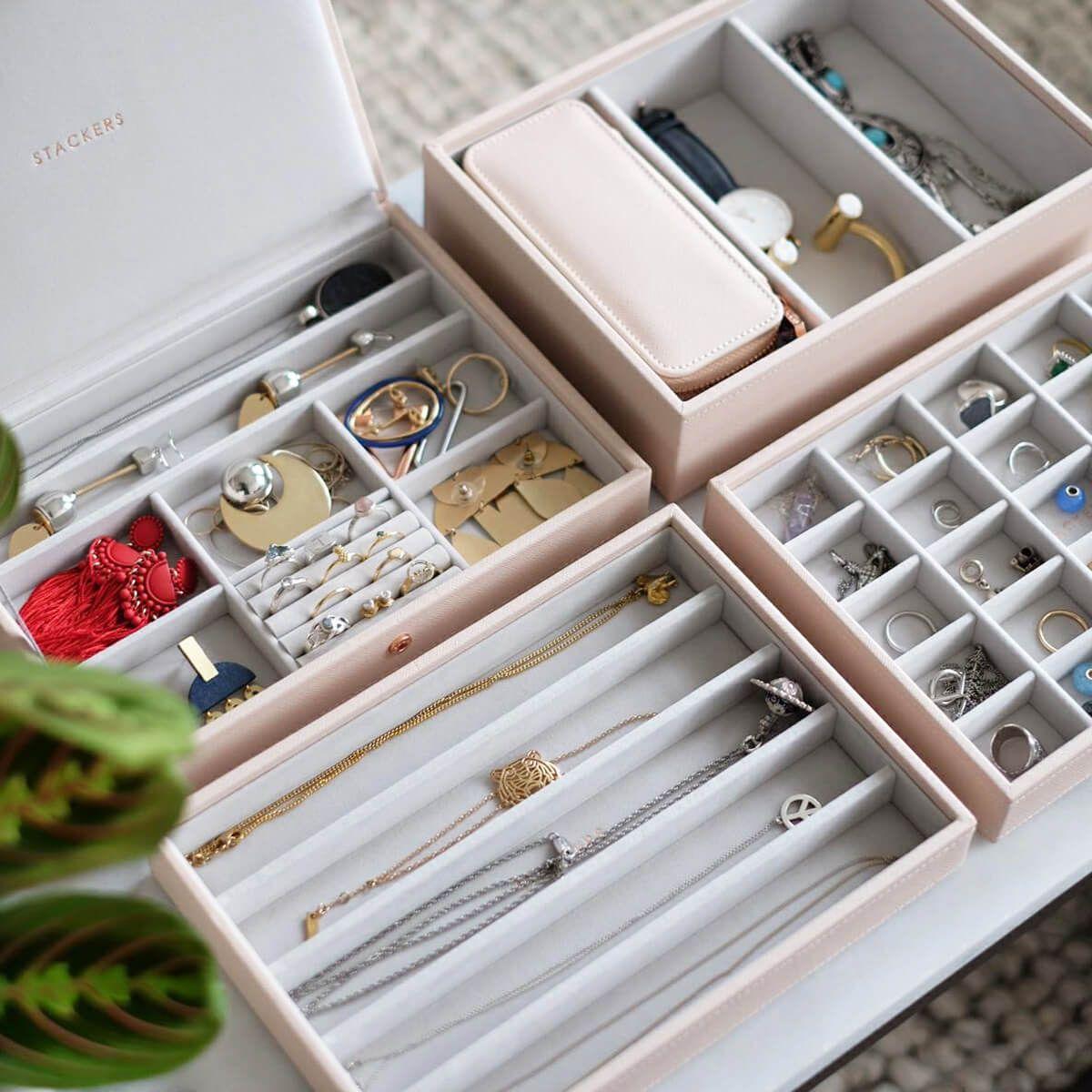 Taupe Supersize Jewellery Box In 2019 Jewelry Travel Jewelry Box
