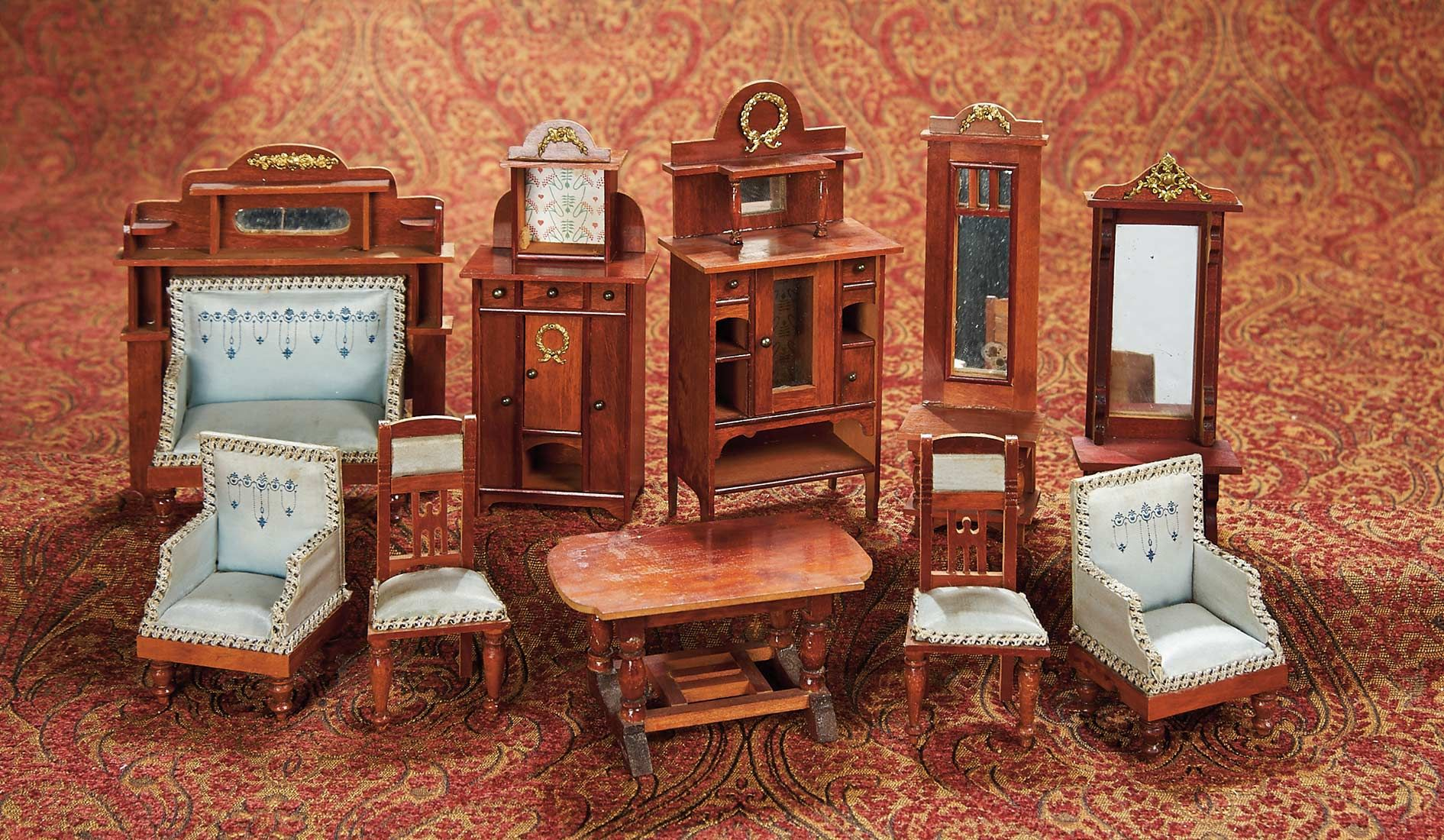 Home at last antique doll and dollhouses 298 set of german luxury home at last antique doll and dollhouses 298 set of german luxury wooden dollhouse publicscrutiny Choice Image