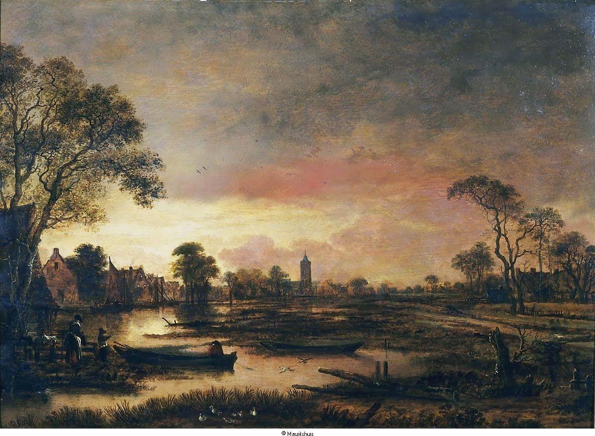'Landscape at Sunset.' 1650