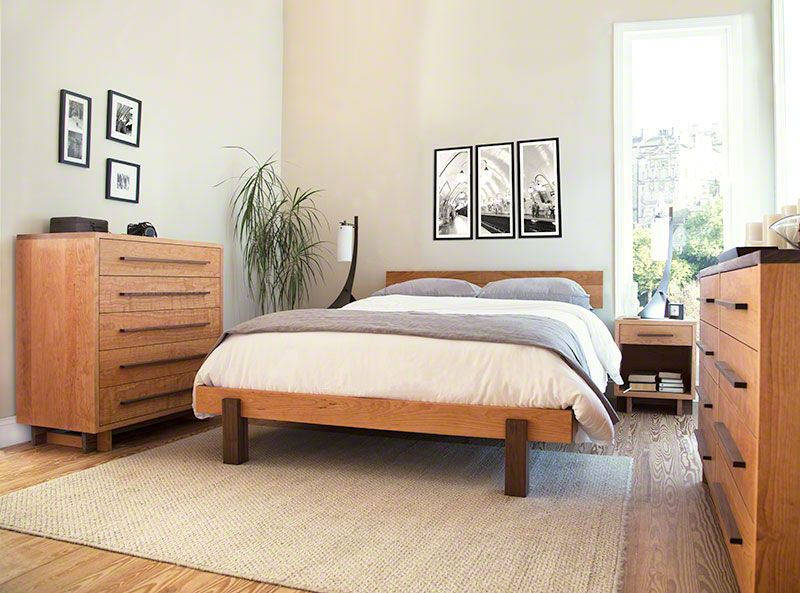 Modern Platform Bed In Solid Hardwood With Natural Finish Made In Usa Small Master Bedroom Decorating Ideas Master Bedroom Furniture Small Master Bedroom