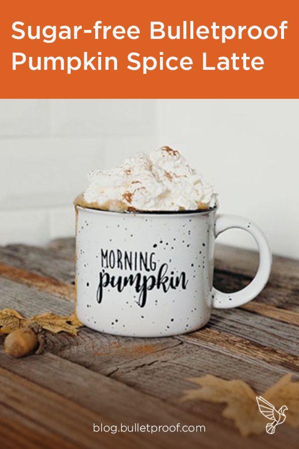 Sugar-free Bulletproof Pumpkin Spice Latte #pumpkinspiceketocoffee