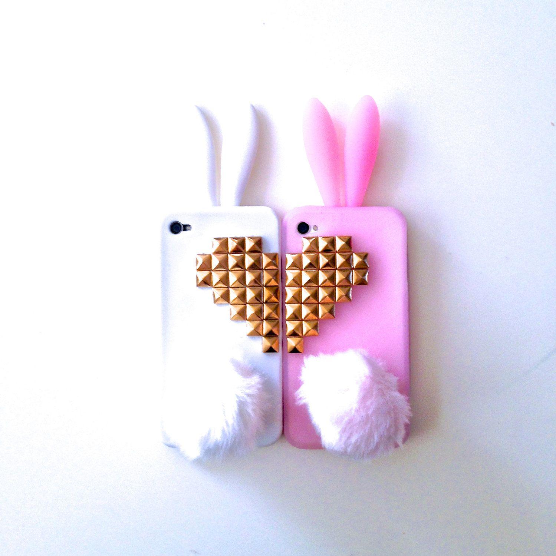 Best Friends Bunny Rabbit Heart Studded iPhone 4 4s ...