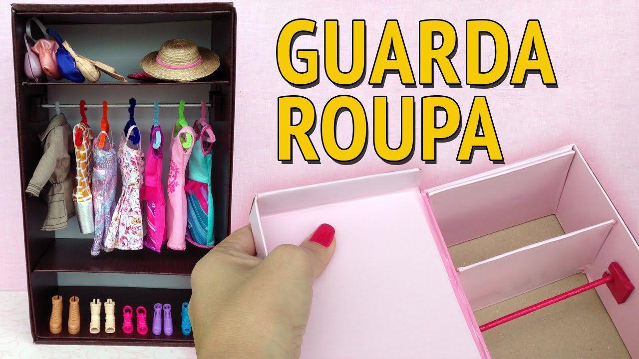 Bagno Barbie ~ Guarda roupa e closet para barbie feito com caixa de sapato como