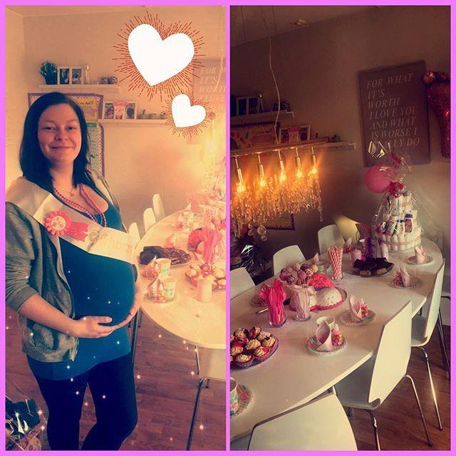 Baby shower 💜🎀😊 #girl #women #babyshower #pink #itsagirl #sweetie @tonealode 💜💛😊 kjempe koselig dag kjekt å se deg igjen stor klem gla i deg 💖💖😁😘 #evedeso #eventdesignsource - posted by juliebkelly https://www.instagram.com/juliebkelly. See more Baby Shower Designs at http://Evedeso.com