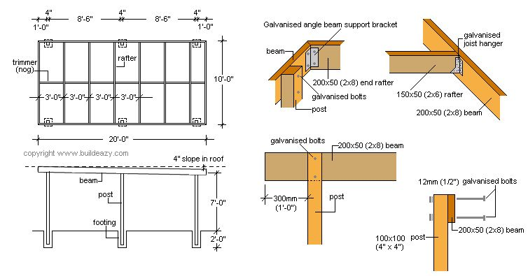 Flat Roof Carport Plans How To Build A Basic Free Standing Carport 2  Identifying The Parts