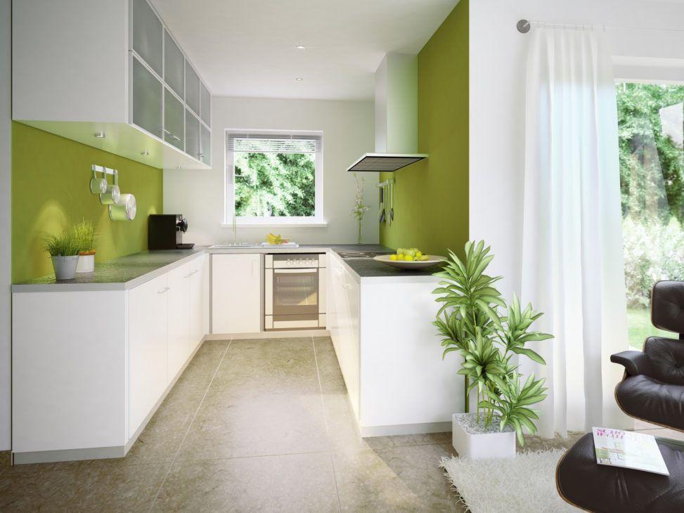 Kuche Offen Modern Weiss In U Form Haus Inneneinrichtung Ideen