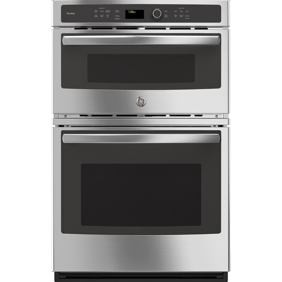 Ge Profile Self Cleaning With Steam Convection Microwave Wall Oven Combo Stainless Steel Common 27 Inc Combination Wall Oven Convection Wall Oven Wall Oven