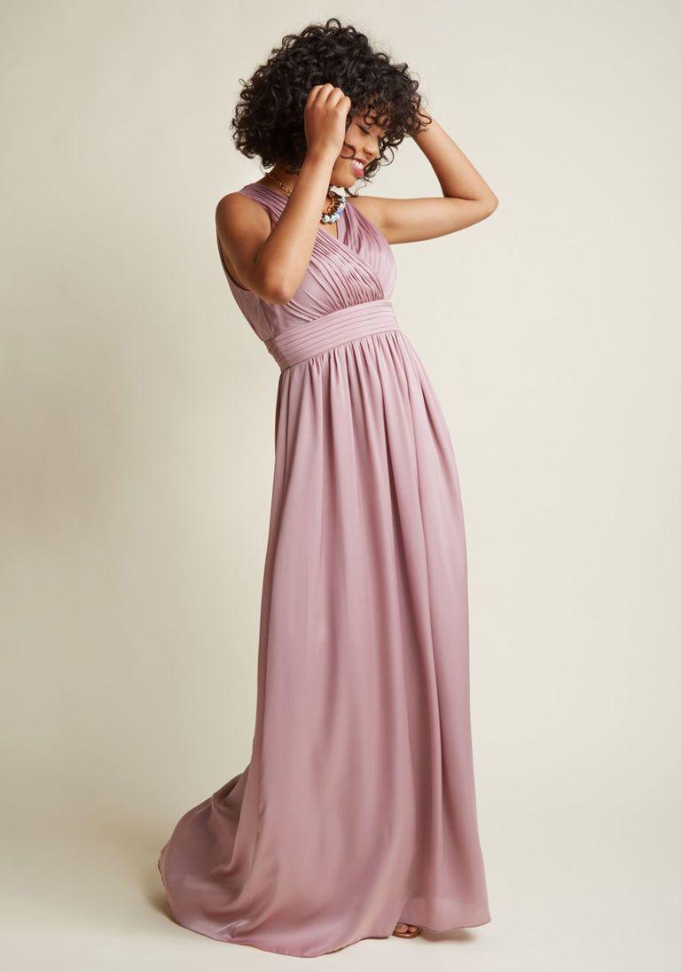 3fa8a68a2cf01d Sleeveless Bridesmaid Maxi Dress