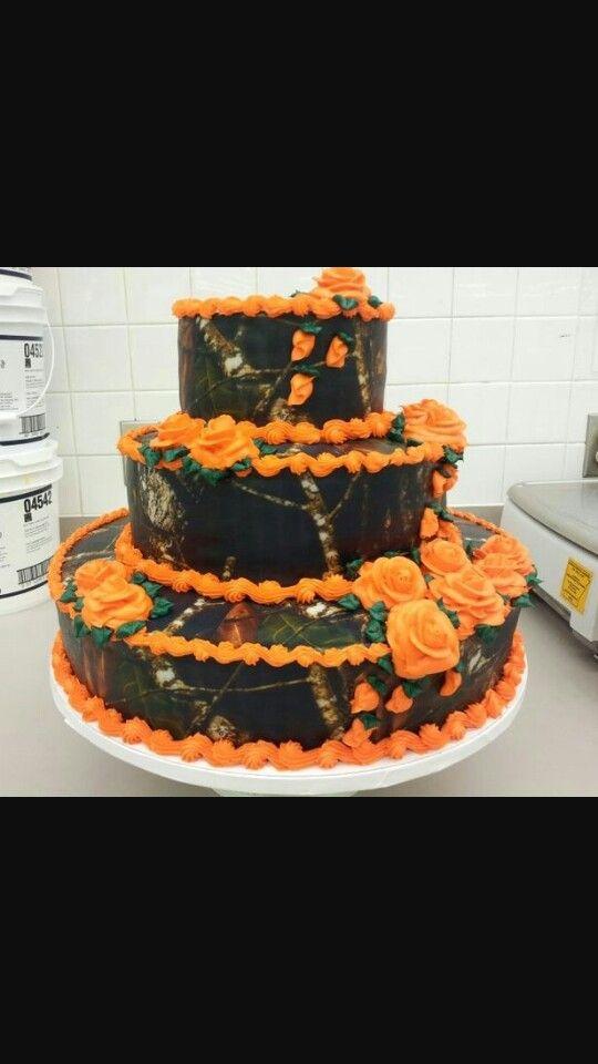 Orange Camo Cake Cake Ideas Camo Wedding Cakes Camo Wedding