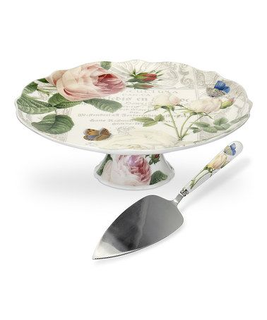 This Royal Worcester RHS Rose Footed Cake Plate u0026 Server by Royal Worcester is perfect! #zulilyfinds  sc 1 st  Pinterest & This Royal Worcester RHS Rose Footed Cake Plate u0026 Server by Royal ...