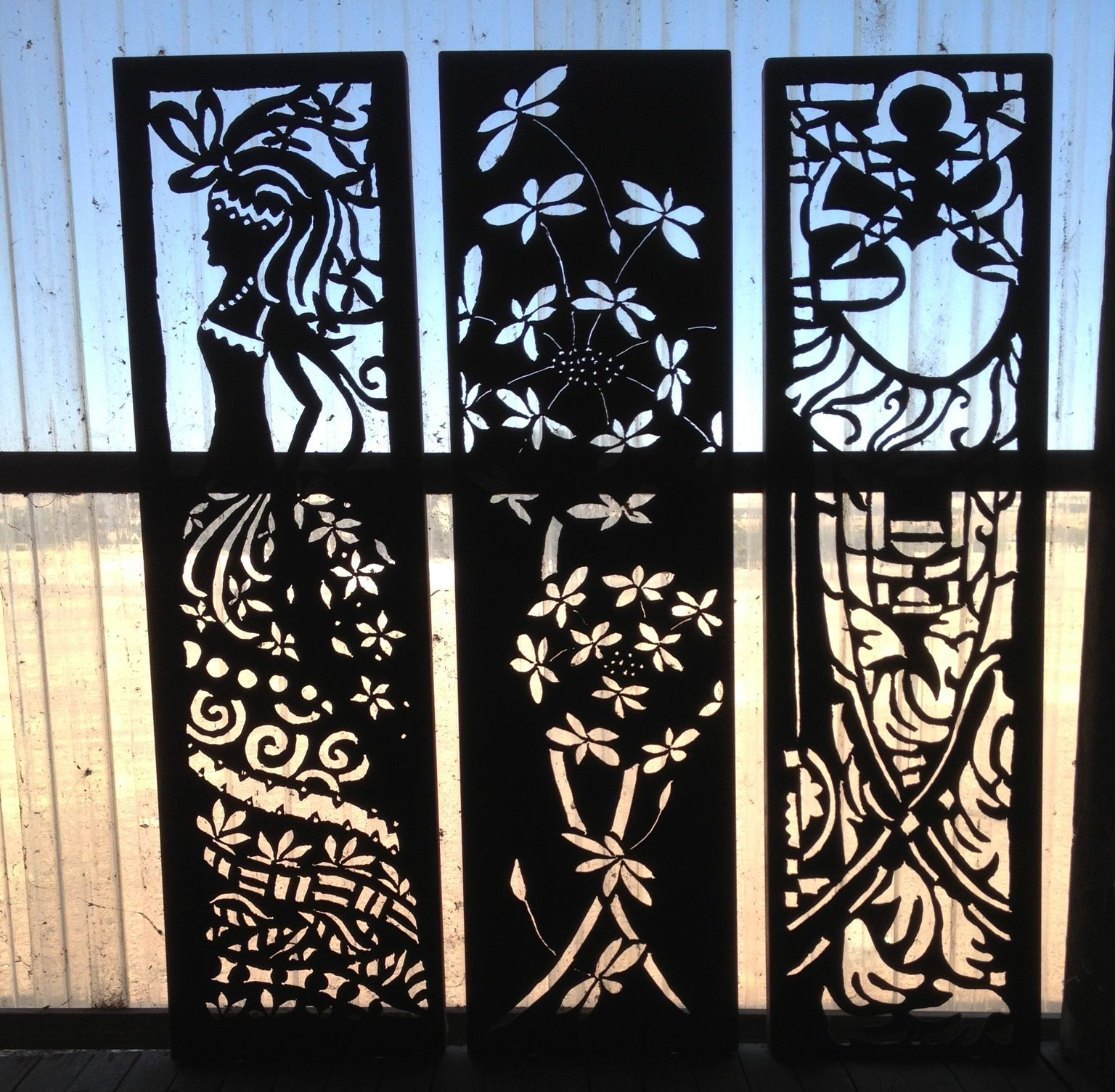 Design elements plasma cutting custom design plasma cutting artistic - Each Panel Designed And Created By Me Using A Handheld Plasma Cutter And Corten Weathering Steel
