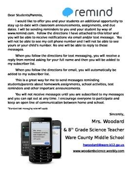 parent letter explaining remind formally remind 101 giving students parents your codes and instructions on how to join