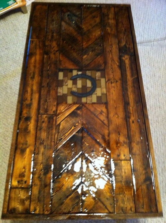 Lovely Cowboy Coffee Table. On Etsy, $275.00