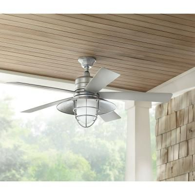 Home Decorators Collection Grayton 54 In Indoor Outdoor Galvanized Ceiling Fan 34343 The Depot
