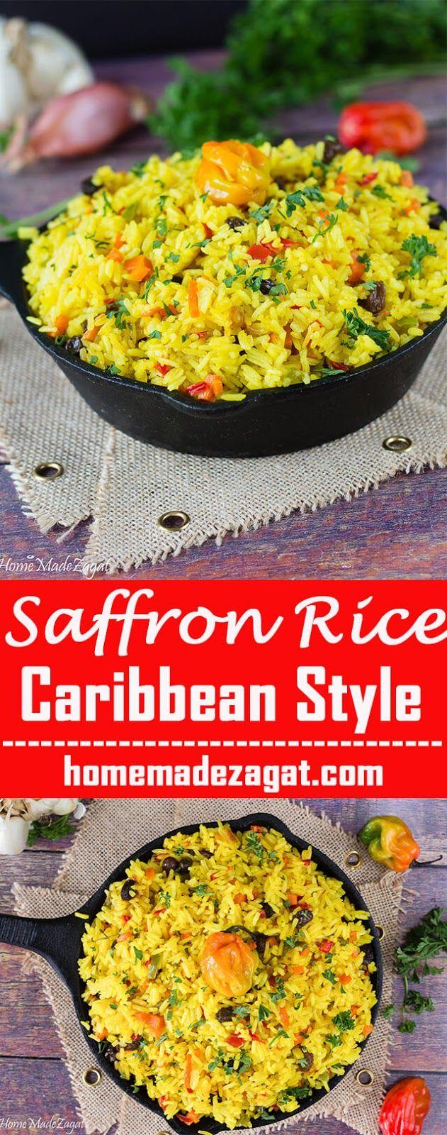 Yellow Saffron Rice - Caribbean Style #seasonedricerecipes