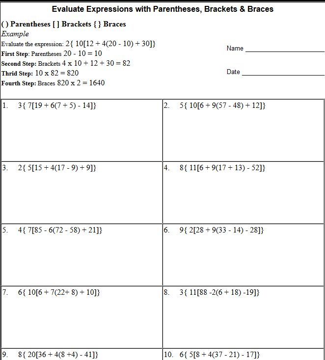 brackets in math